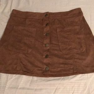 Brown suede skirt from Altar'd State